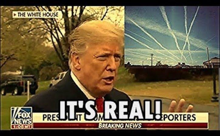 Donald Trump Tours Chemtrail Plane verspricht, das Programm zu beenden