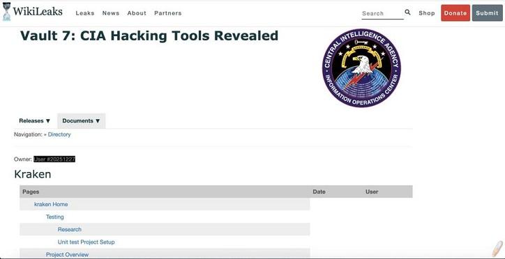 """""""KRAKEN"""" ist ein CIA-Hacking-Programm"""