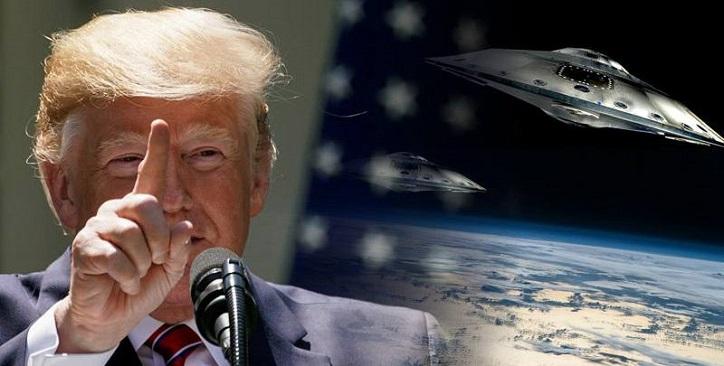 """Trump wird UFOs und """"Bedrohung für Aliens"""" gründlich untersuchen."""