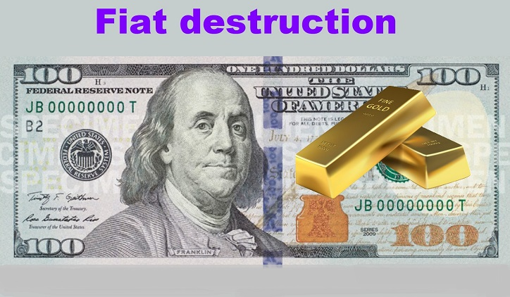 Fiat Zerstörung. Krypto oder Gold?
