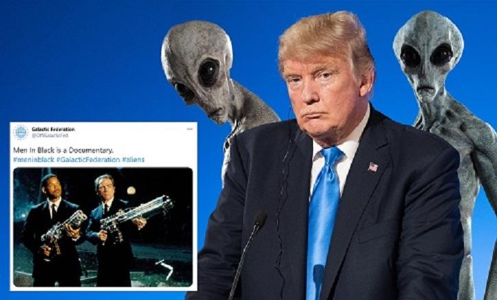 """Hat eine """"Galaktische Föderation"""" Trump gebeten, die Außerirdischen nicht zu enthüllen?"""