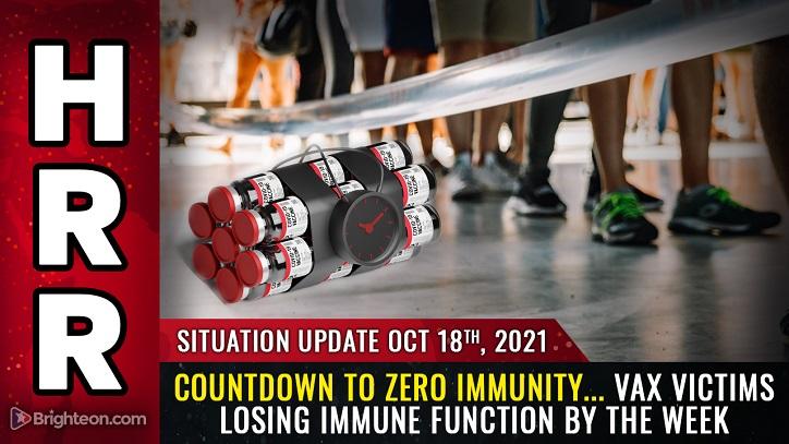Countdown bis ZERO IMMUNITY… Impfopfer sehen, dass ihre Immunantwort jede Woche um etwa 5 % sinkt, mit langfristigen Folgen, die AIDS widerspiegeln